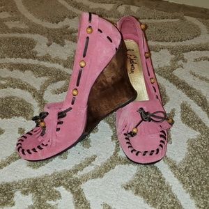 Sam Edelman Pink Wedges